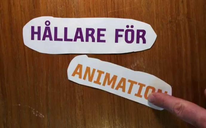 Pröva bordshållare för animation